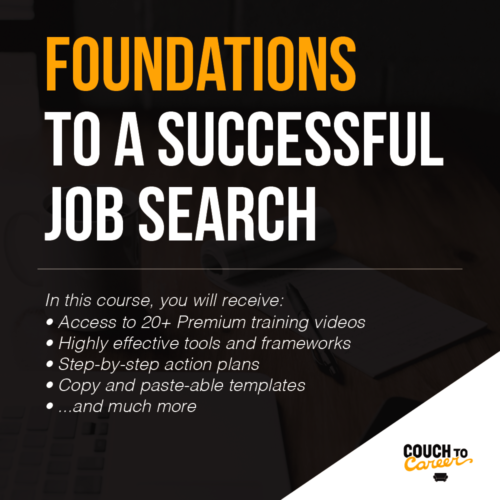 enroll in foundations to a successful job search course